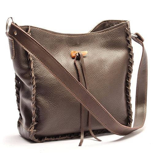 Brown leather handbag. BOLS 05