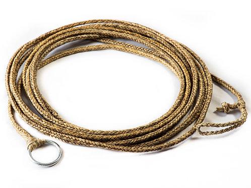 """Long 8 strand braided """"Long"""" rawhide riata. LAZ 08"""