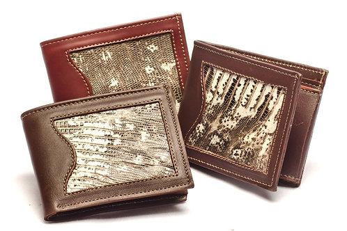 "Men's  ""Iguana"" wallet with double card slot. BILL 57"