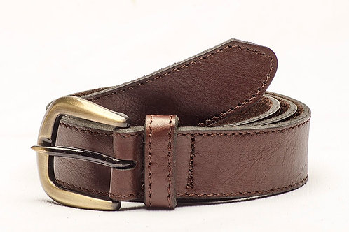 Brown leather belt. CIN 18