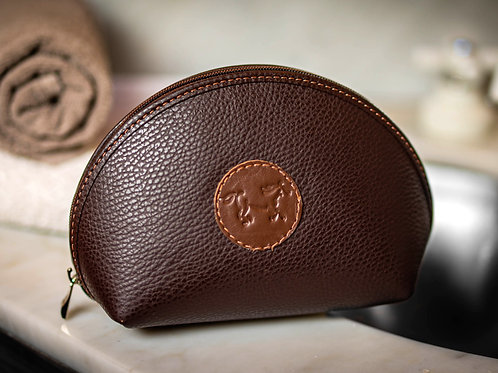 Brown cosmetic case. COS 02