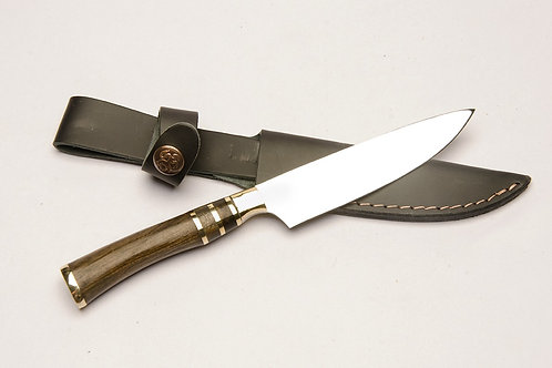 Stainless steel and wood handle knife. CUCH 34.