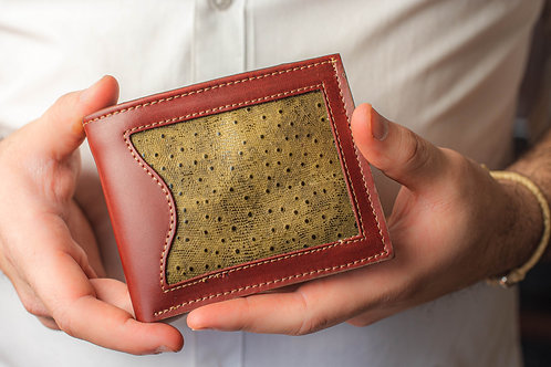 """Men's  """"Grained"""" wallet with double card slot. BILL 53"""