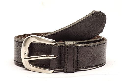 Black leather belt. CIN 33