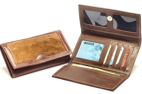 "Ladies"" Cowhide"" wallet, tri-folder design . BILL 33"