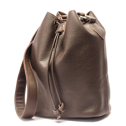 """Marino"" brown leather handbag.  BOLS 11"