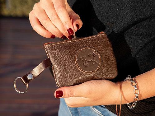 Brown coin purse. MON 02