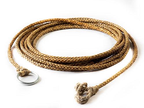 6 strand braided rawhide riata. LAZ 06