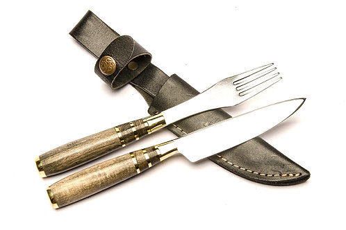 Inlaid knife and fork set. CUCH 46