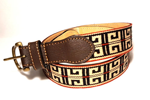 """Pampa "" leather belt . CIN 24"