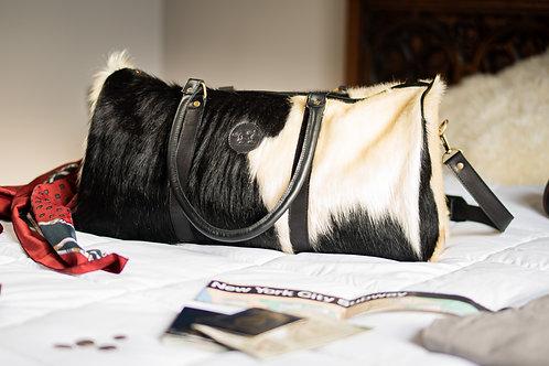 Large  Cowhide leather travel  bag. BOLS 22