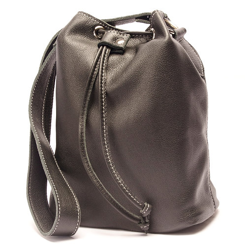"""""""Marino"""" black leather Handbag. BOLS 12"""