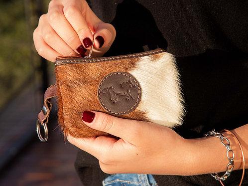 Cowhide coin purse. MON 01