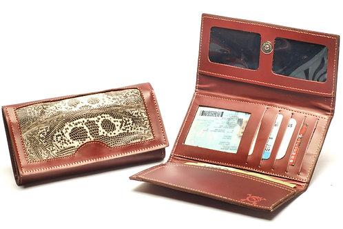 "Ladies""Iguana"" wallet, tri-folder design . BILL 64"