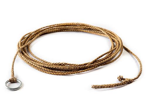 """""""Chivero"""" 4 strand braided Rawhide riata. LAZ 01"""