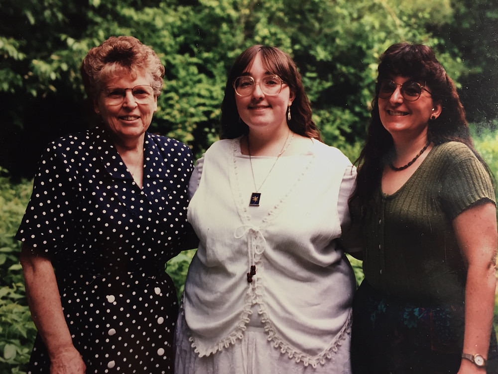 My grandmother, me, and my mom at my college graduation