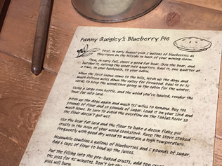 Unusual Blueberry Pie Recipe