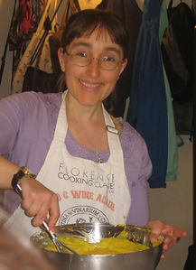 Me makig pasta dough in Florence, Italy