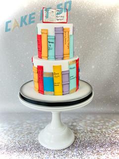 Library Bookshelf Birthday Cake