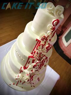 Blood Dripping Roses Alternative Wedding Cake
