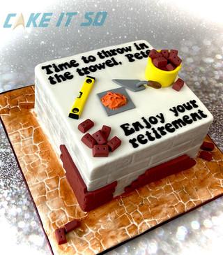 Builder Retirement Cake