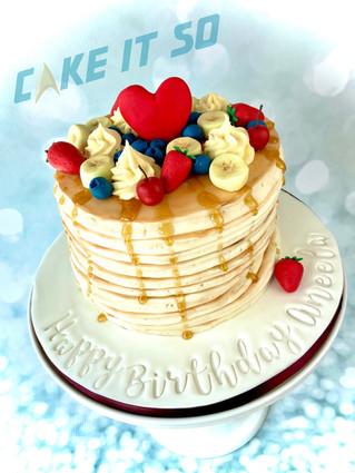 Pancake Stack Cake With Fruit