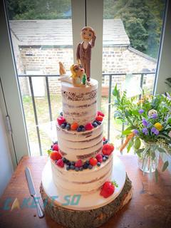 Naked Wedding Cake Bride Groom Toppers