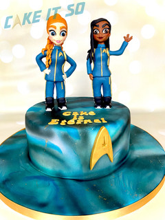 star trek discovery cake tilly michael
