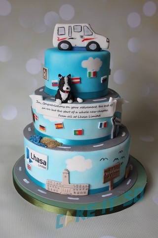 lhasa Retirement Corporate Cake