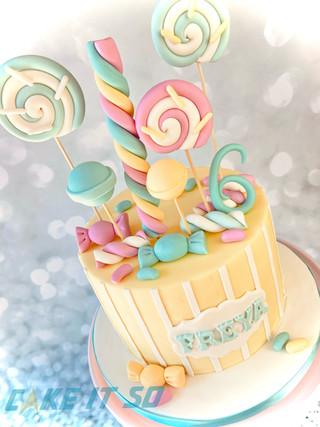 Candyland Pastels Cake