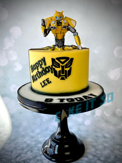 bumblebee transformers cake.JPG