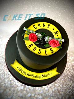 Guns N Roses Birthday Cake