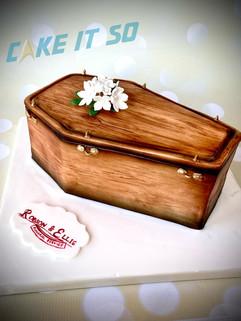 Coffin Corporate Cake