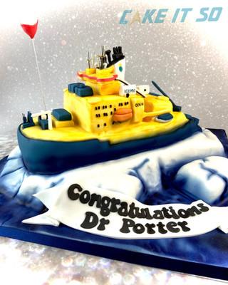 PhD Icebreaker Cake