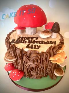 mushroom log cake.JPG