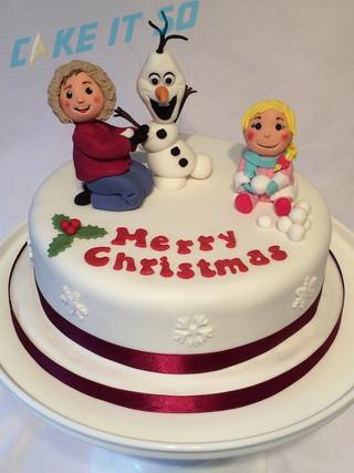 olaf snowman kids christmas cake.jpg