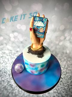 fortune teller hand tarot cake.JPG