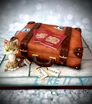 Suitcase Leaving Cake