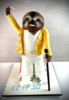 Freddie Mercury Sloth Birthday Cake