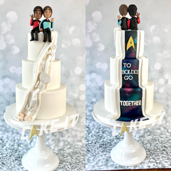 Star Trek Hidden Back Wedding Cake