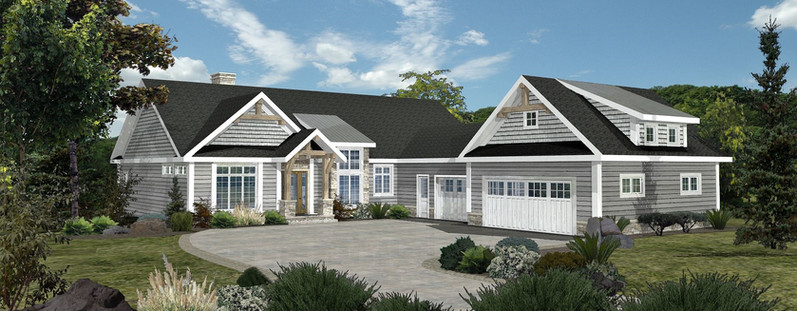 Crown Pointe II - Front Rendering by WLHCH