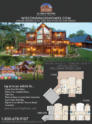 Wisconsin Log Home Magazine Ad