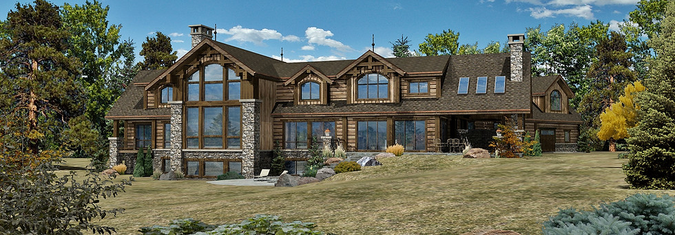 Sandpoint Lodge - Rear Rendering by WLHCH