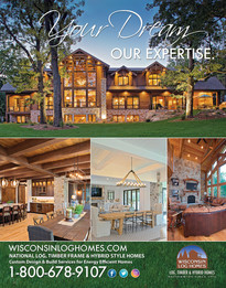 Wisconsin Log Homes Adverstiment