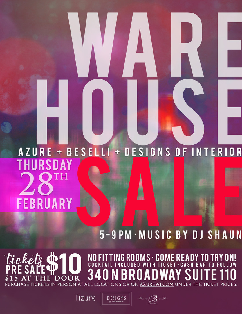Azure Warehouse sale