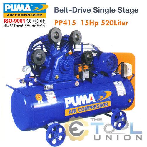 AIR COMPRESSER BELT DRIVE SINGLE STAGE AIR PUMP PP415 15HP 520Liter