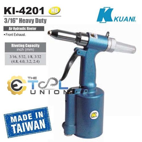 "KUANI เครื่องยิงหมุด รีเวท ลม 3/16"" KI-4201"