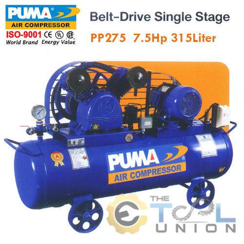 AIR COMPRESSER BELT DRIVE SINGLE STAGE AIR PUMP PP275 7.5HP 315Liter