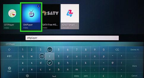 OttPlayeron SamsungSmartRussiaPlusTV