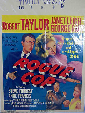 """""""Rogue Cop"""" 1954 Framed Movie Poster"""